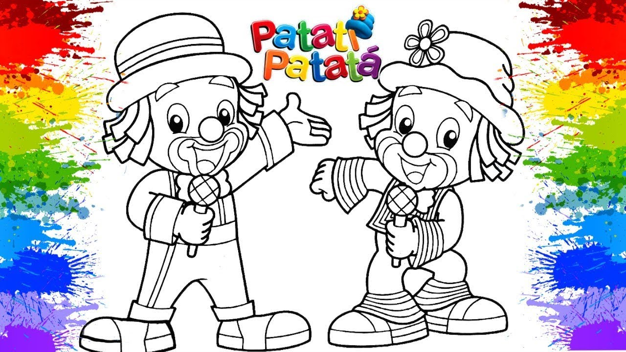 Desenhos Para Colorir Palhacos Patati Patata Como Pintar Desenhos