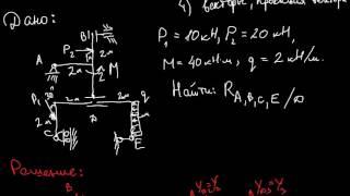 Теоретическая механика. Задание С4 (часть 2) из сборника Яблонского