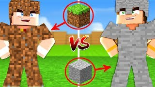 TOPRAK SET VS TAŞ SET! (Minecraft)