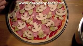 Como Hacer Pizza de Jamón y Champiñones Caprichosa – Recetas de Pizza Casera