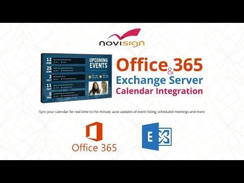 Microsoft Outlook Calendar (Office 365) Integration With Digital Signage Software