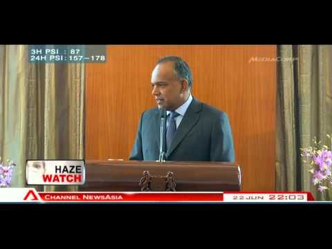 Shanmugam issues warning to companies responsible for haze -