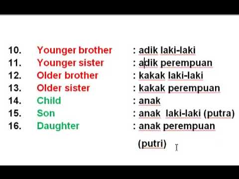Indonesian For Beginners - Lesson 13
