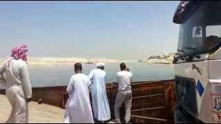 قناة السويس بلا أى جسور ولا حواجز بالمعديات فقط 2يوليو 2015