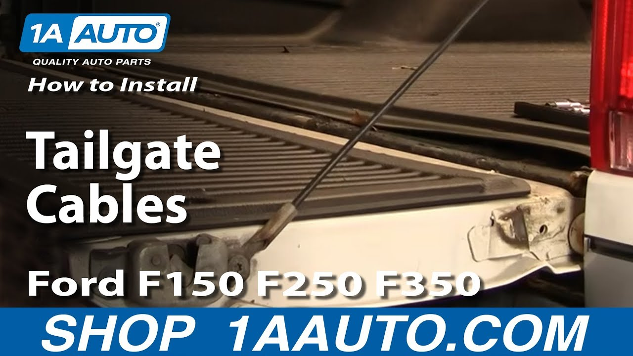How To Install Replace Tailgate Cables Ford F150 F250 F350