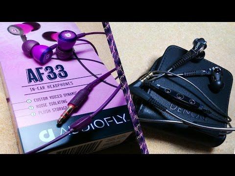Unboxing -  AudioFly AF33  e  DENON AH-C250 MUSIC MANIAC