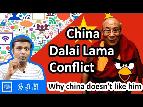 Who is Dalai lama. Why china don't like him and what and why this Tibet china conflict. ( Hindi )