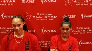 WNBA ALL-STAR: Team USA Brittney Griner \u0026 Skylar Diggins-Smith Media Avail