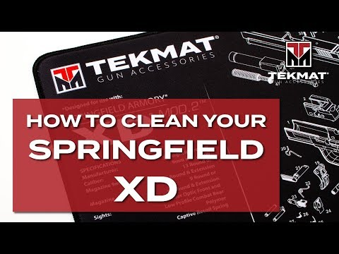 How to Clean a Springfield XD | TekMat | Basic Gun Cleaning