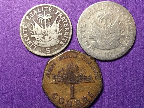 Haiti 5 & 10 Centimes and 1 Gourde 1950 - 1995