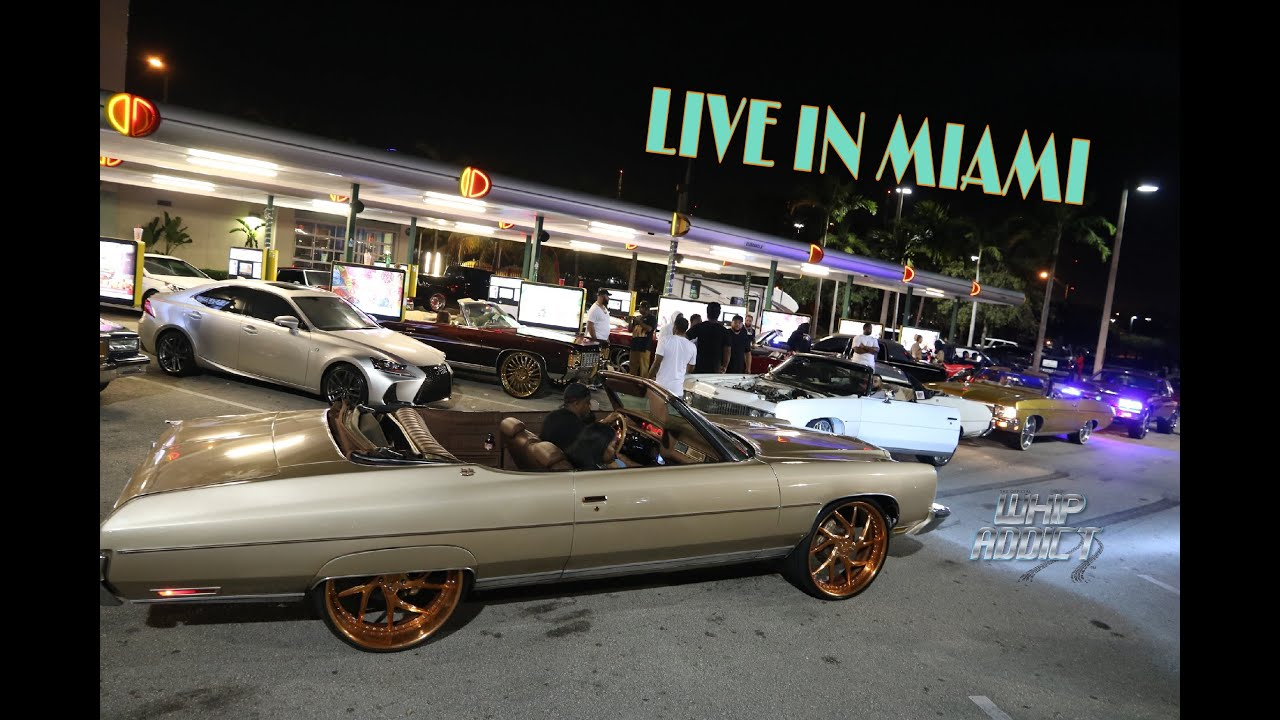 WhipAddict: Sonics Miami Sunday, Custom Cars, Donks, Burnouts, Donuts, Craziness!!
