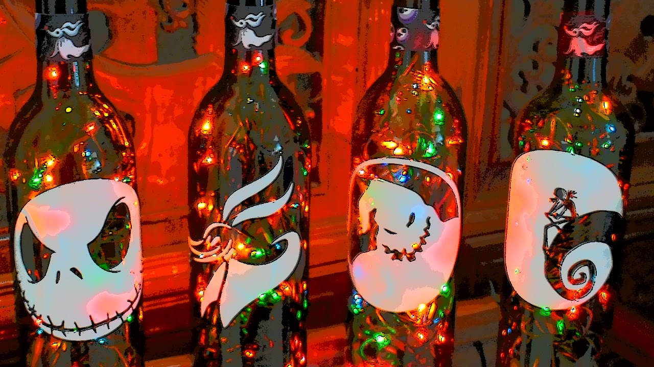 The Nightmare Before Christmas Wine Bottle Lights - YouTube