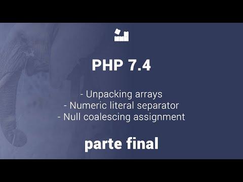 Vídeo no Youtube: Novidades PHP 7.4 - Parte Final #php #php74
