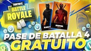 😱😱COMO CONSEGUIR EL PASE DE BATALLA 4 GRATIS! //FORTNITE//😱😱