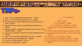 top hindi tv shows | trp ratings | week 22