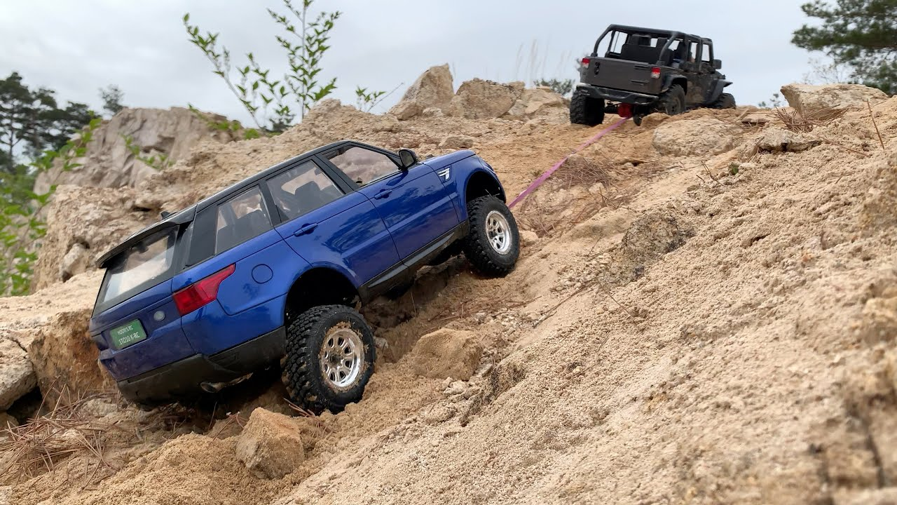 1/10 Scale RC : Custom Range Rover Sport & Jeep Wrangler Rubicon JK(SCX10 II) Off-road Trail #16.