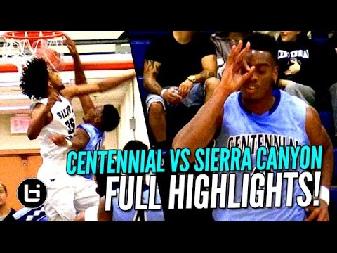 Troy Brown Jr DUNKS ON Marvin Bagley III | Sierra Canyon WINS vs Centennial! FULL Highlights!