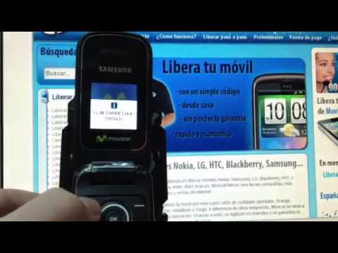 Liberar Samsung E1190, desbloquear Samsung E1190 de Movistar Movical Net
