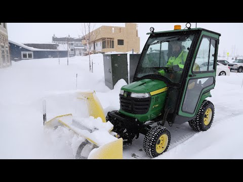 RDO Equipment Co. And John Deere X700 Tractor For Snow Removal