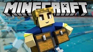 Minecraft SOLO - OLİMPİK HAVUZ VE GİYİM ODASI - BÖLÜM 35
