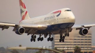 British Airways B747 Smooth Landing