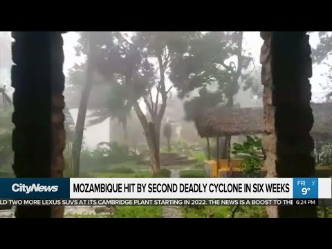 Mozambique hit by second deadly cyclone in 6 weeks