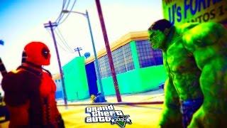 Gta 5 mod - deadpool vs hulk