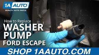 How to Replace Washer Pump 07-12 Ford Escape