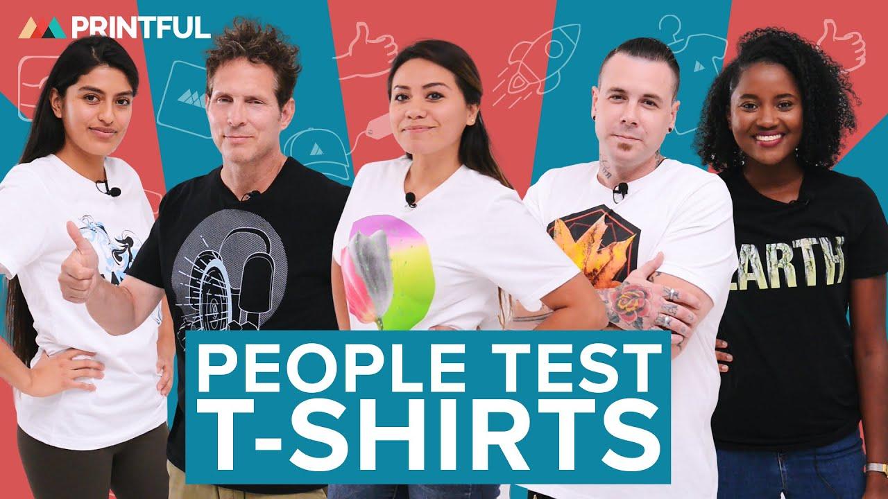 people test custom tshirts printful tshirt review  youtube