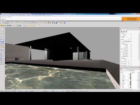 08 HDRI lighting [Vray for Rhino] - Barcelona Pavilion