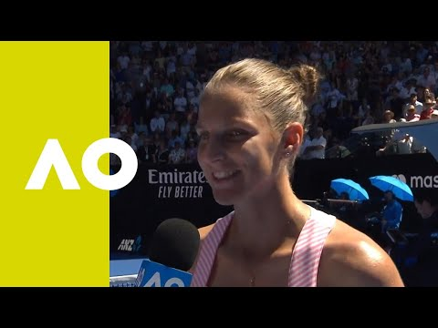 Karolina Pliskova on-court interview (QF) | Australian Open 2019