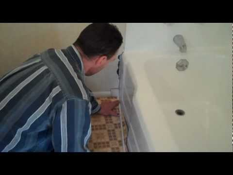 How to refinish a bath tub and repair surrounding tub enclosure ...