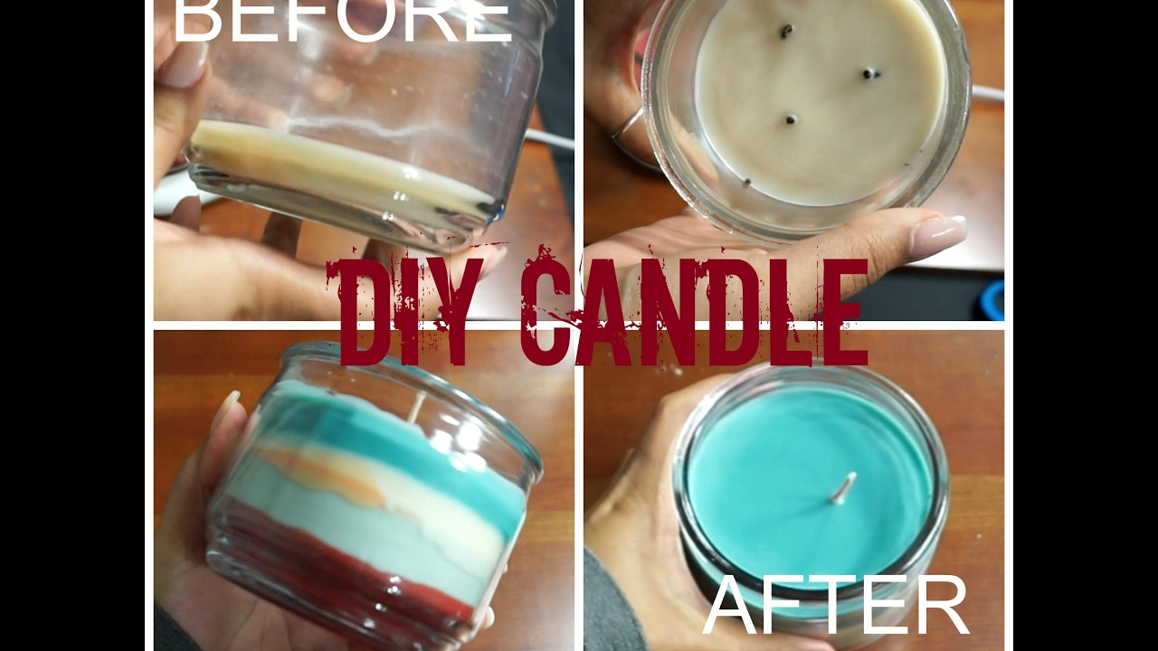 HOW TO: Reuse leftover candle wax | D.I.Y. CANDLE