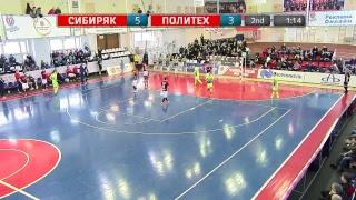 Смотреть видео Суперлига. 14 тур. «Сибиряк» (Новосибирск) - «Политех» (Санкт-Петербург). Второй матч онлайн