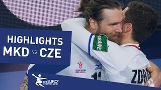 Highlights | FYR Macedonia vs Czech Republic | Men's EHF EURO 2018