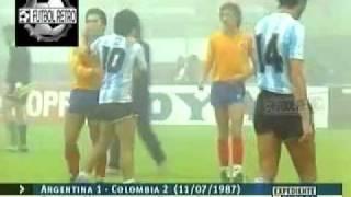Argentina 1 vs Colombia 2 Copa America Argentina 1987 FUTBOL RETRO TV