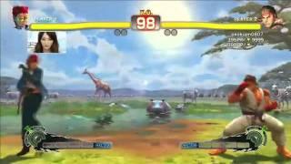 Kayo Police(C.Viper) VS Kindevu(Ryu) VS Kindevu(Juri) VS Kokujin(Ryu)