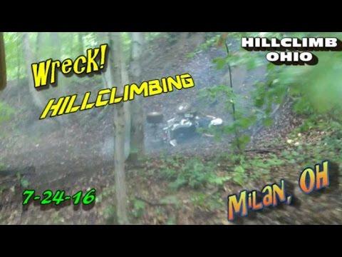 [HILLCLIMB OHIO]7-24-16 Hillclimbing/Riding/Wreck at Milan, oh