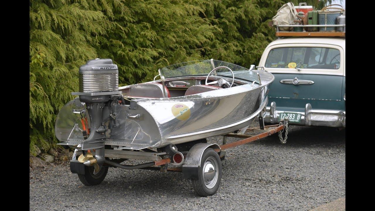 1957 Feather Craft Rocket Boat Mercury Thunderbolt Denwerks Aluminum