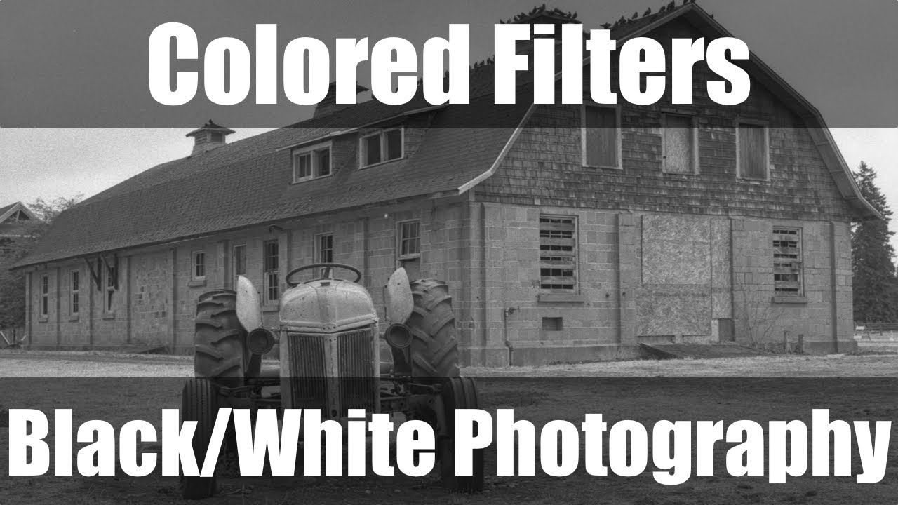 Color filters in black and white photography