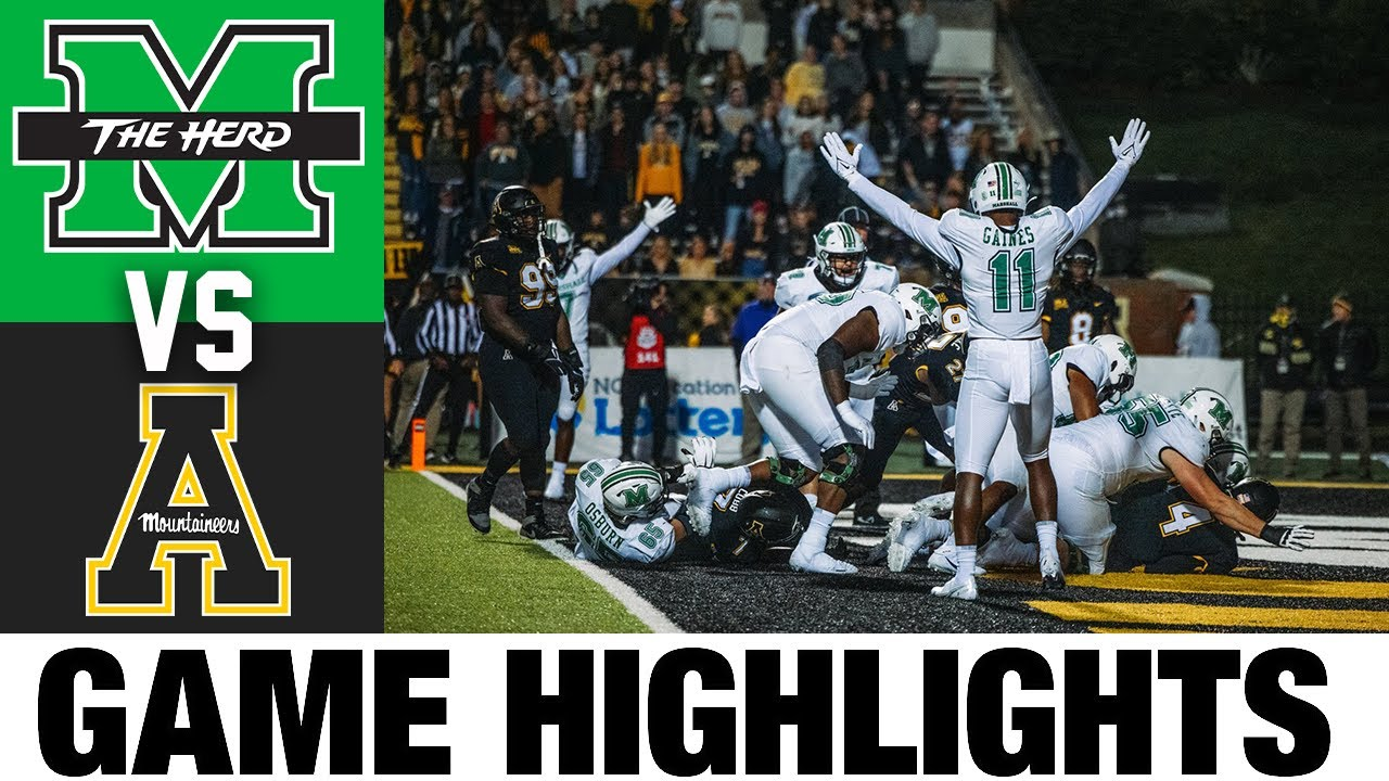 Marshall vs Appalachian State | Week 4 | 2021 College Football