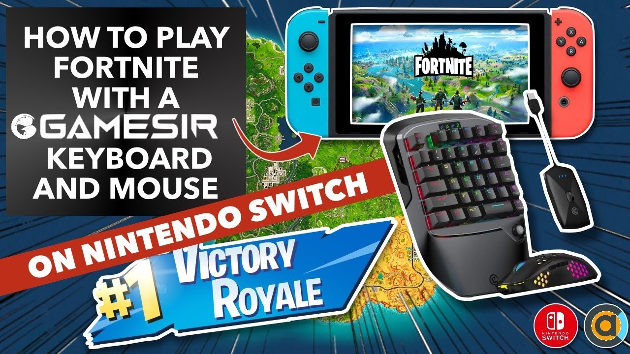 How to connect keyboard and mouse to Nintendo Switch using GameSir VX2 and play Fortnite