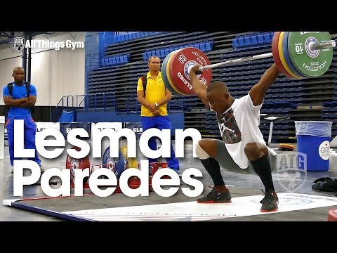 Lesman Paredes (94kg Colombia Junior) 2015 World Weightlifting Championships