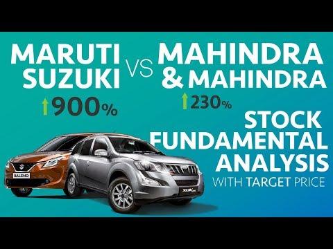 Maruti Suzuki vs Mahindra & Mahindra - Stock Fundamental Analysis   Which is a better investment ?