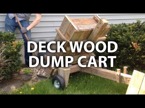 DIY deck wood dump cart