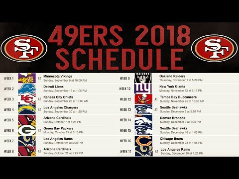 Live! 49ers Fans Predictions & Reactions To 2018 Regular Season Schedule