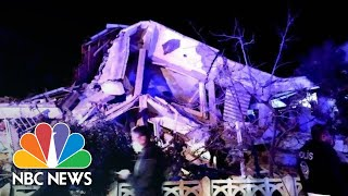 Deadly Earthquake Collapses Buildings In Elazig, Turkey | NBC News