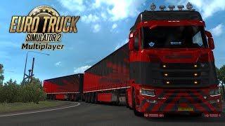 Touren door de Baltic DLC l Euro Truck Simulator 2 MP {G29}