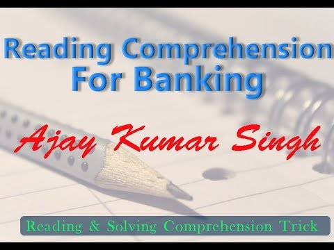 Reading Comprehension For Banking By Ajay Kumar Singh II MB Books