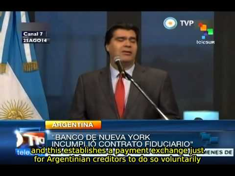 Capitanich: trust bank will be replaced in case of vulture funds